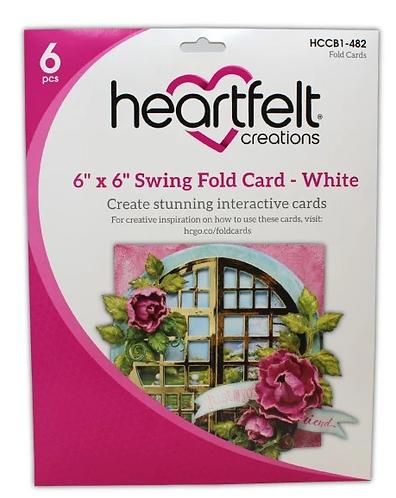 """Heartfelt - 6"""" x 6"""" Swing Fold Card - White"""