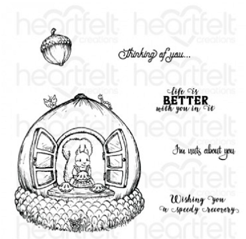 Oakberry Lane Collection - Oakberry Cottage & Sentiments Cling Stamp Set
