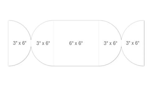 "Heartfelt - 6"" x 6"" Shutter Fold Card - White"