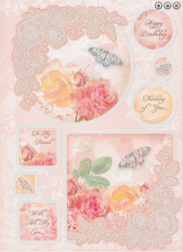 Lovely Ladies Luxury Topper Sets - Rose Garden
