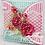 "Thumbnail: Heartfelt - 6"" x 6"" Interlocking Fold Card - White"