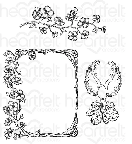 Flowering Dogwood Branches Cling Stamp Set