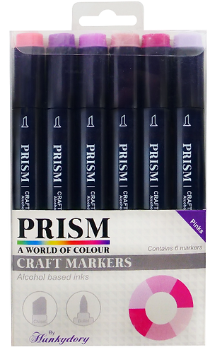 Prism Craft Markers Set 6 - Pinks x 6 Pens