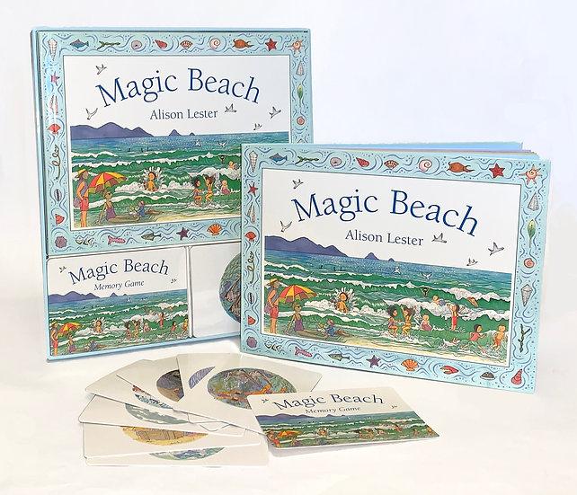 MAGIC BEACH - BOOK & MEMORY CARD GAME