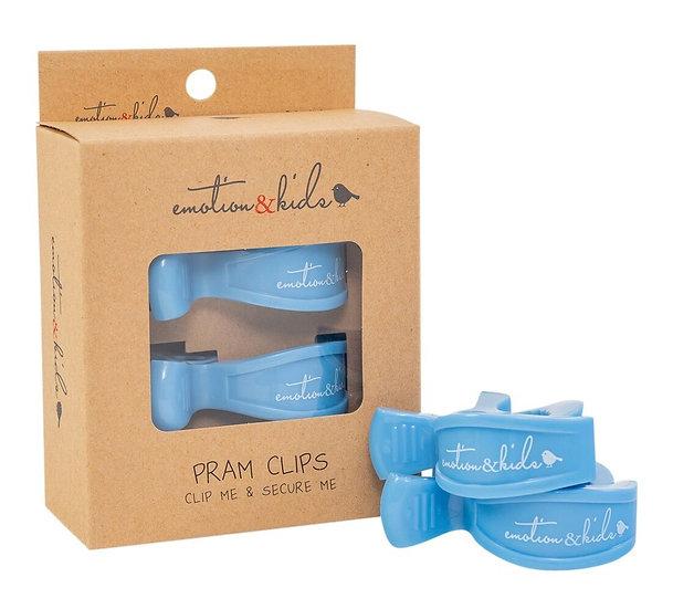 PRAM CLIPS - BLUE PAIR