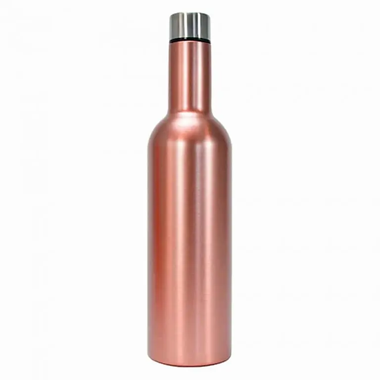 DOUBLE WALLED PICNIC WINE BOTTLE - ROSE GOLD