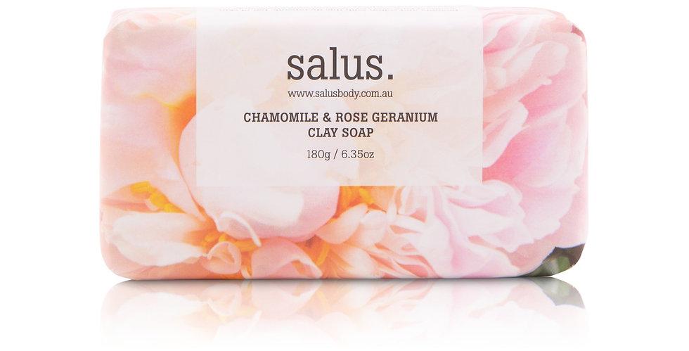 CHAMOMILE & ROSE GERANIUM CLAY SOAOP