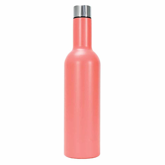 DOUBLE WALLED PICNIC WINE BOTTLE - CORAL