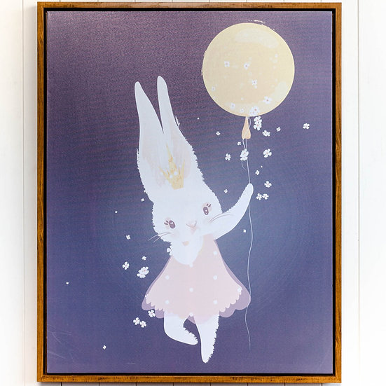 MISS DAISY BUNNY FRAMED CANVAS