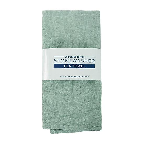 STONEWASHED TEA TOWEL - SAGE