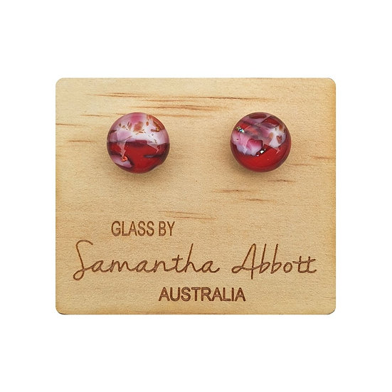 GLASS STUD EARRINGS