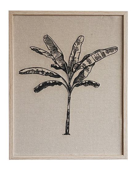 BANANA PALM EMBROIDERED WALL ART