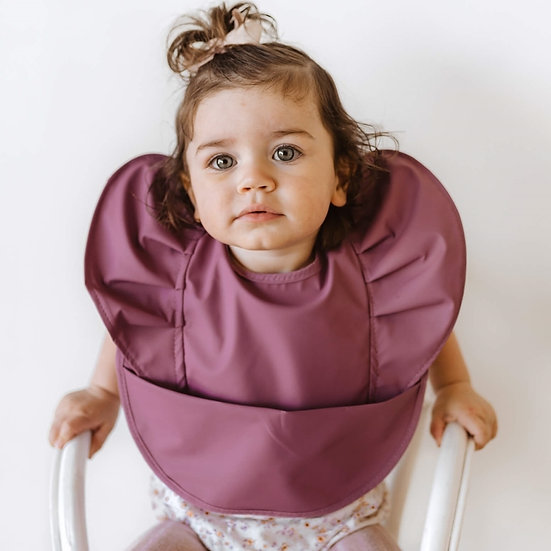 SNUGGLE BIB - MAUVE - WATERPROOF