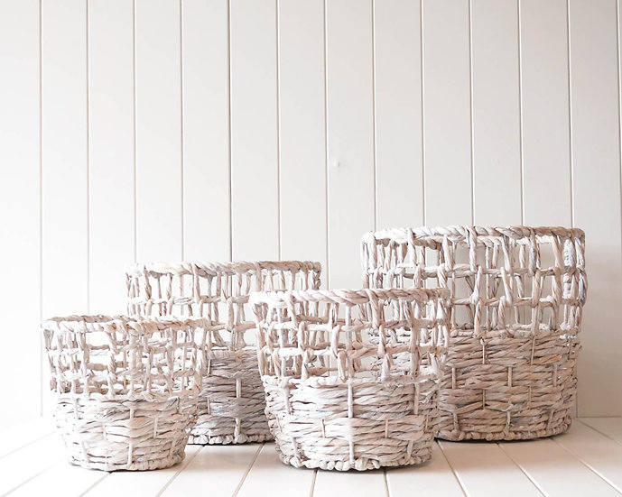 BROOK WHITE WASH BASKETS