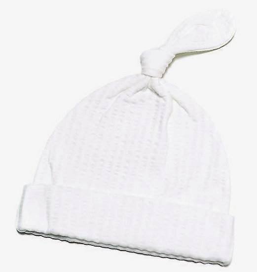 WHITE STRIPE HAT