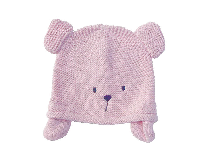 PINK TEDDY KNIT HAT
