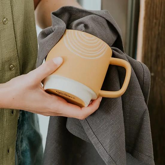 STONEWASHED TEA TOWEL - CHARCOAL