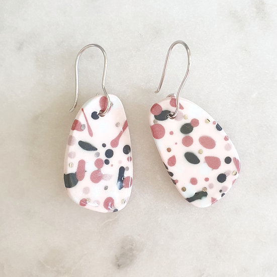CERAMIC PEBBLE EARRINGS