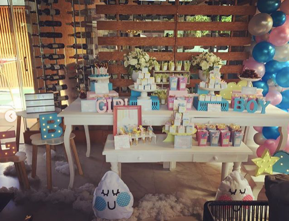 mesa de dulces gender reveal