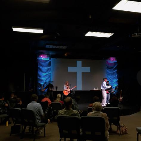 CCMH Church service with worship