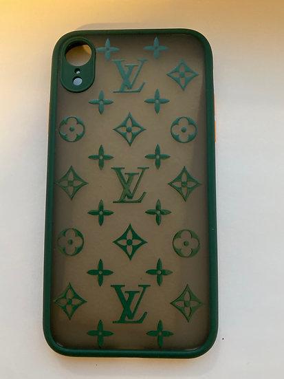 IPHONE XR DARK GREEN LV CASE