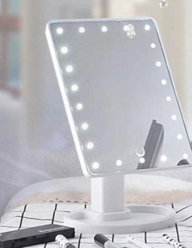 WHITE 16 LED MIRROR