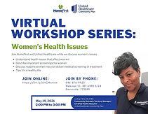 Virtual Workshop Series: Women's Health Issues