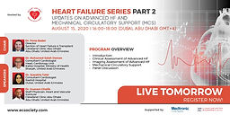 Heart Failure Series Part 2 - Updates on Advanced HF and Mechanical Circulatory Support (MCS)