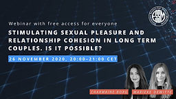 ESSM Workshop Webinars: Stimulating sexual pleasure and relationship cohesion in long term couples. Is it possible?