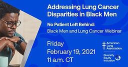 No Patient Left Behind: Black Men and Lung Cancer Webinar