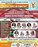 "I Jornada Internacional Virtual de Avances en Urología - ""Master Class de Expertos"""
