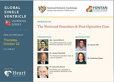 Global single ventricle learning series - Webinar #2 The Norwood Procedure & Post-Operative Care