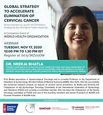 Global Strategy to Accelerate Elimination of Cervical Cancer