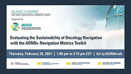 Evaluating the Sustainability of Oncology Navigation with the AONN+ Navigation Metrics Toolkit