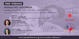 MANAGING INSOMNIA - Tips on managing insomnia and Q & A with medical experts