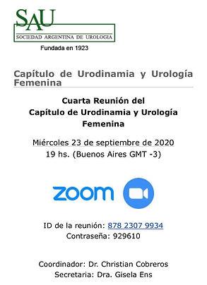 Capítulo de Urodinamia y Urología Femenina