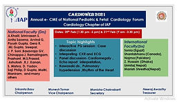 CARDIOWEB 2021 Annual e-CME of National Pediatric & Fetal Cardiology Forum Cardiology Cardiology Chapter of IAP