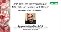 ddPCR for the Determination of MSI Status in Patients with Cancer