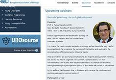 UroWebinar EAU - Radical Cystectomy: the urologist nightmare!