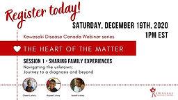 Kawasaki Disease Canada The Heart of the Matter Webinar Series - Session 1