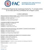 3º Simposio Regional de Cardiología Santa Fe, 1ª Jornada online. En el marco del Mini Confederal de la Región Litoral