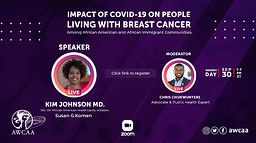 Impact of COVID-19 on People Living With Breast Cancer Among African American and African Immigrant Communities