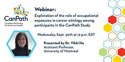 Exploration of the role of occupational exposures in cancer etiology among participants in the CanPath Study