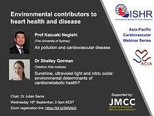 Environmental contributors to heart health and diseas