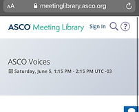 ASCO Voices