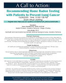 Recommending Home Radon Testing with Patients to Prevent Lung Cancer