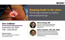 Keeping leads in the clear: Novel approaches in cardiac electrophysiology
