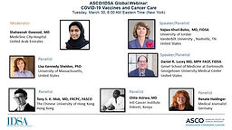 ASCO/IDSA Global Webinar: COVID-19 Vaccines and Cancer Care