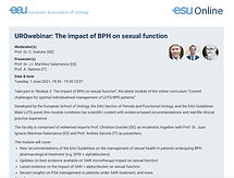UROwebinar: The impact of BPH on sexual function