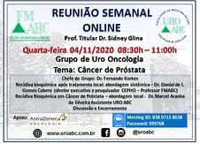 Reunião Semanal Online - Grupo de Uro Oncologia: Câncer de Próstata